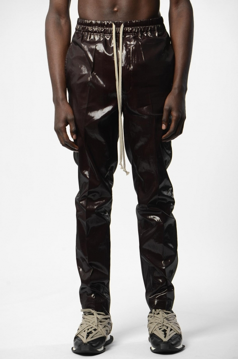 RICK OWENS Bronze Silk Trousers 1