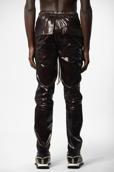 RICK OWENS Bronze Silk Trousers 2