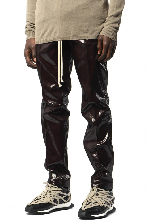 RICK OWENS Bronze Silk Trousers 0