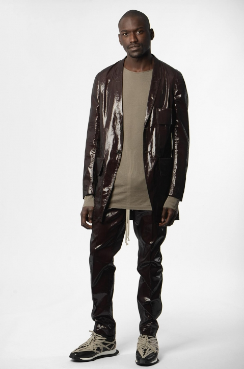 RICK OWENS Bronze Silk Trousers 3