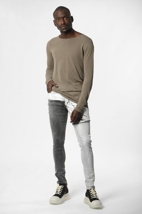RICK OWENS Tyrone Collage Wax Skinny Jeans 3