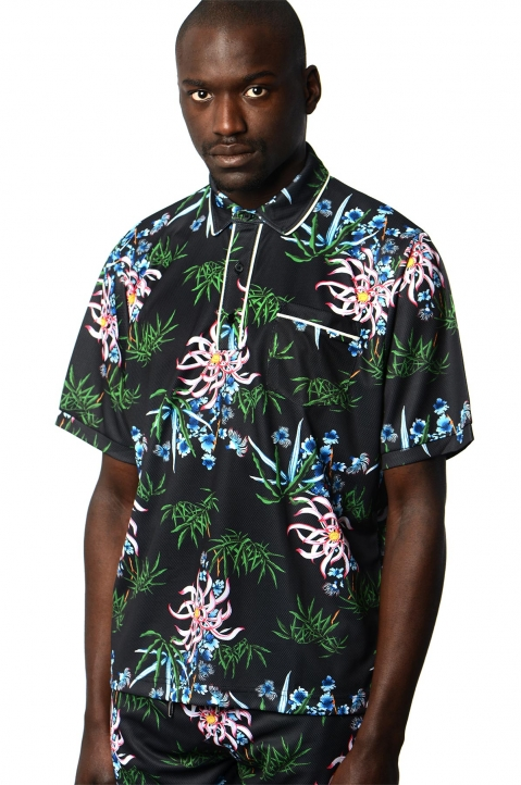 KENZO Floral Technical Polo-Shirt 0