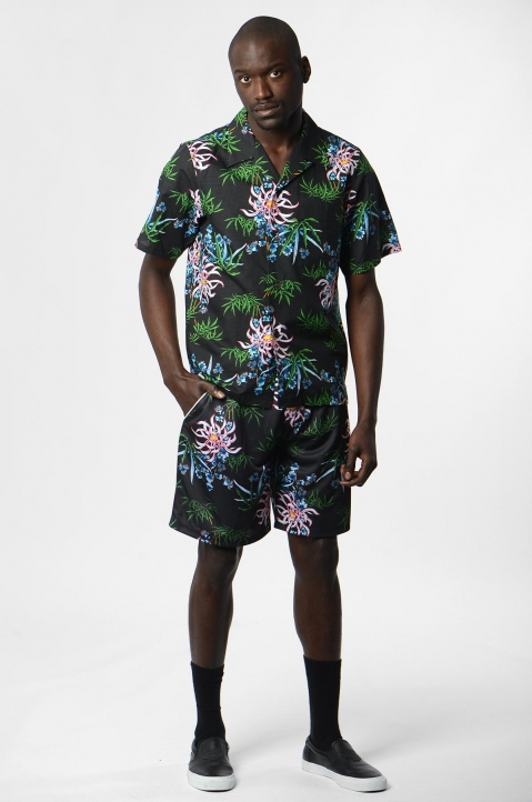 KENZO Floral Technical Shorts 3