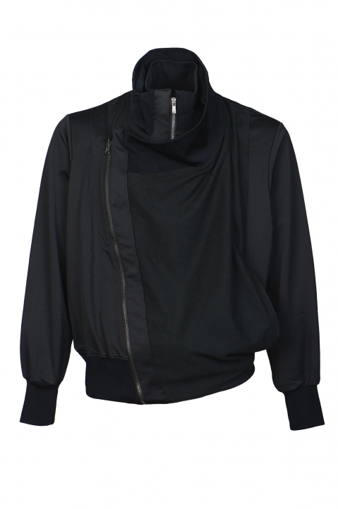 FUMITO GANRYU Double-Layer Black Jacket 0