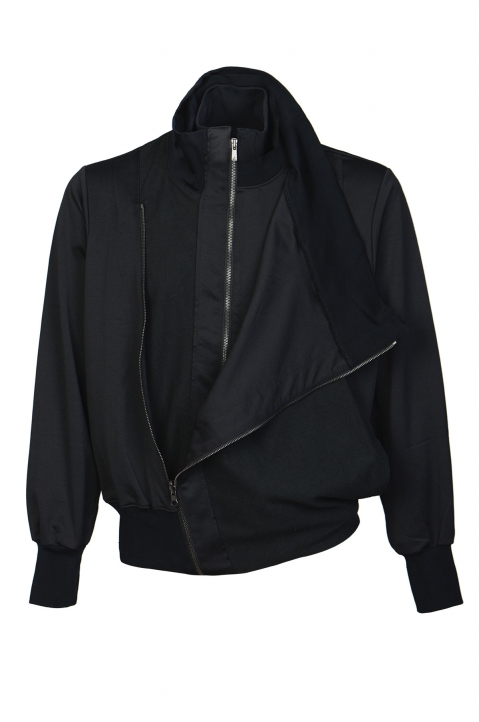 FUMITO GANRYU Double-Layer Black Jacket 2