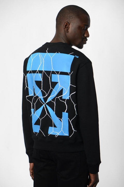 OFF-WHITE Fence Arrows Black Sweatshirt 1