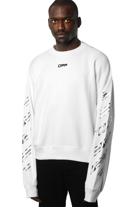 OFF-WHITE Airport White Sweatshirt  0