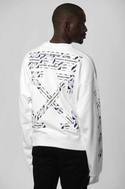 OFF-WHITE Airport White Sweatshirt  1