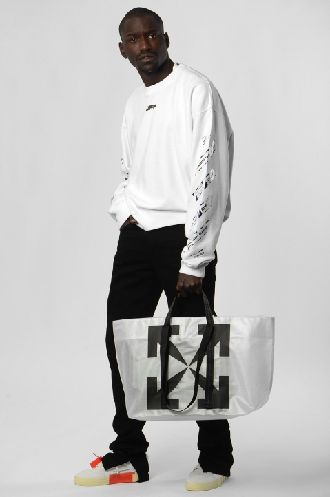OFF-WHITE Airport White Sweatshirt  3