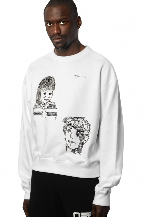 OFF-WHITE Little Girl White Sweatshirt 0
