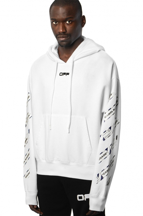 OFF-WHITE Airport White Hoodie 0