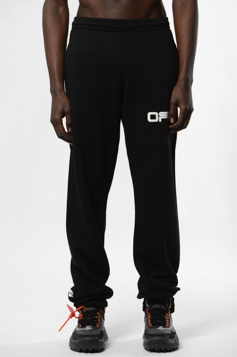 OFF-WHITE Airport Black Slim Sweatpants 1