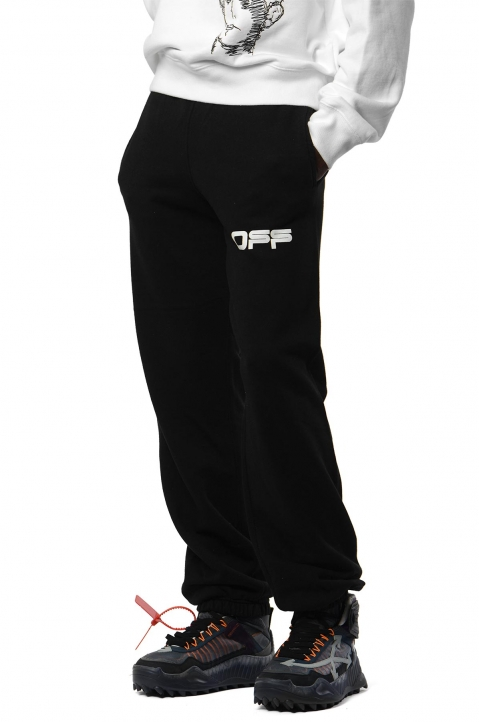 OFF-WHITE Airport Black Slim Sweatpants 0