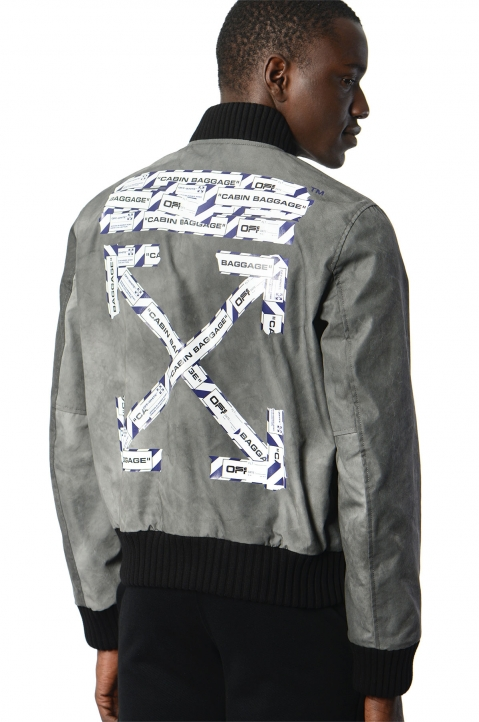 OFF-WHITE Airport Varsity Jacket 0