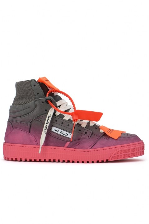 OFF-WHITE Grey Gradient Off Court Mid Sneakers 0