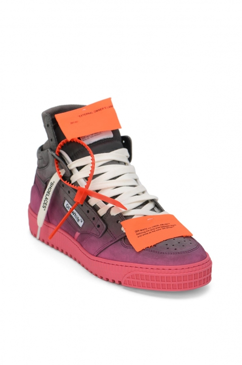 OFF-WHITE Grey Gradient Off Court Mid Sneakers 1