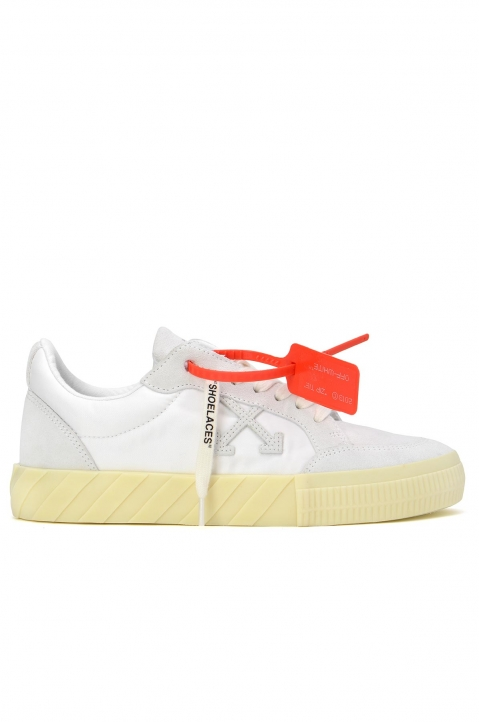 OFF-WHITE White Low Vulcanized Sneakers 0