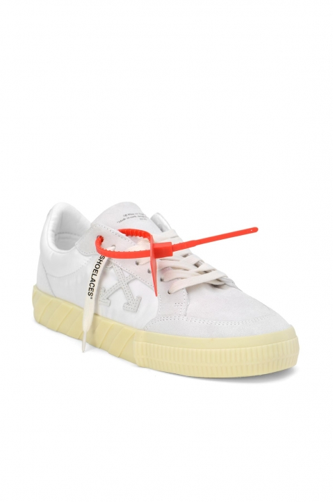 OFF-WHITE White Low Vulcanized Sneakers 1