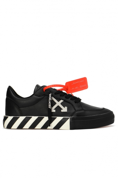 OFF-WHITE Black Low Vulcanized Sneakers  0