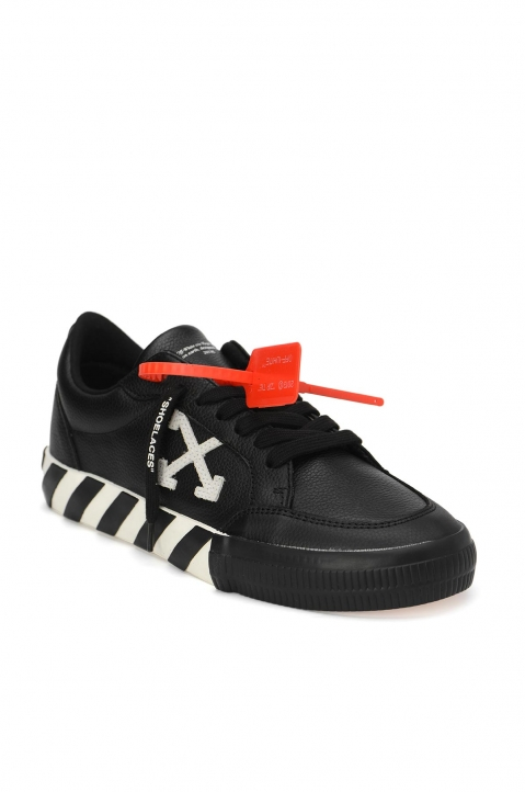 OFF-WHITE Black Low Vulcanized Sneakers  1