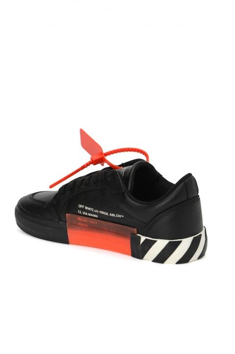 OFF-WHITE Black Low Vulcanized Sneakers  2