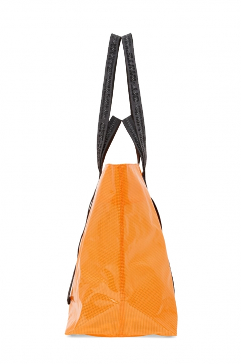OFF-WHITE Orange Tyvek Arrow Tote Bag  2