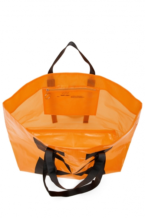OFF-WHITE Orange Tyvek Arrow Tote Bag  3