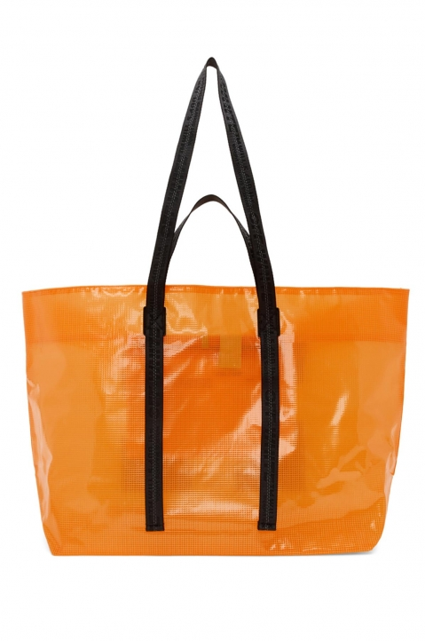 OFF-WHITE Orange Tyvek Arrow Tote Bag  1