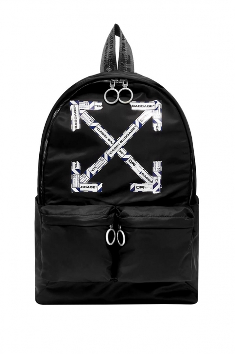 OFF-WHITE Black Airport Tape Backpack  0
