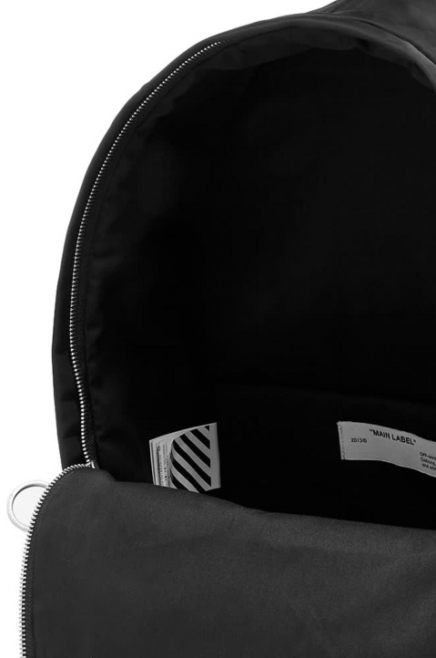 OFF-WHITE Black Airport Tape Backpack  3