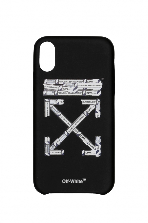 OFF-WHITE Black Airport Tape Iphone XR Case  0