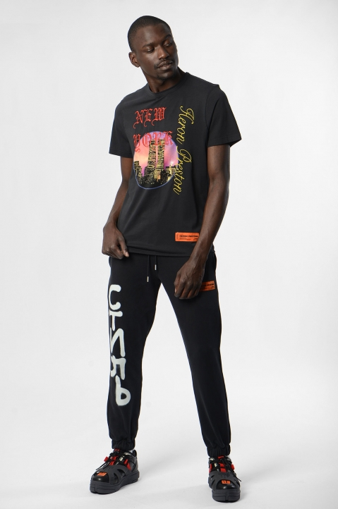 HERON PRESTON Black NYC Skyline Tee 3