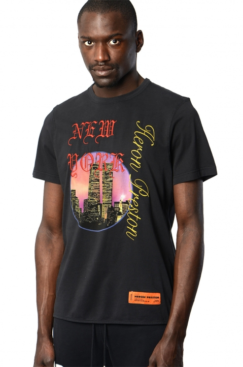 HERON PRESTON Black NYC Skyline Tee 0