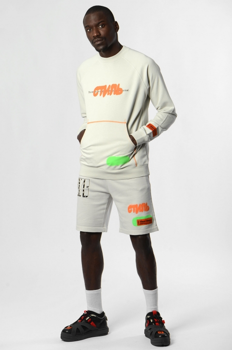 HERON PRESTON White Spray Sweatshirt  2