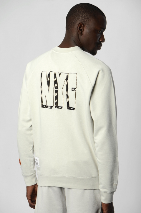HERON PRESTON White Spray Sweatshirt  1