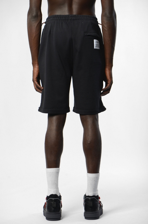 HERON PRESTON Black Spray Fleece Shorts 2