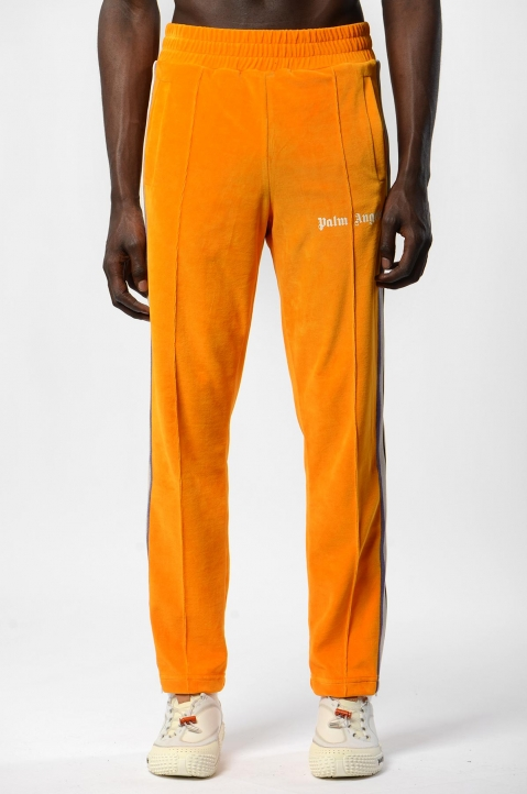 PALM ANGELS Tie-Dye Tape Orange Chenille Trackpants 1