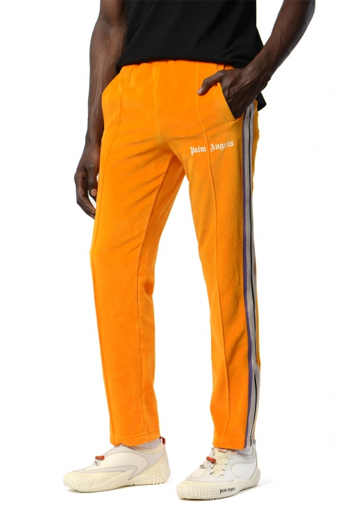 PALM ANGELS Tie-Dye Tape Orange Chenille Trackpants 0