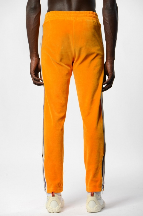 PALM ANGELS Tie-Dye Tape Orange Chenille Trackpants 2