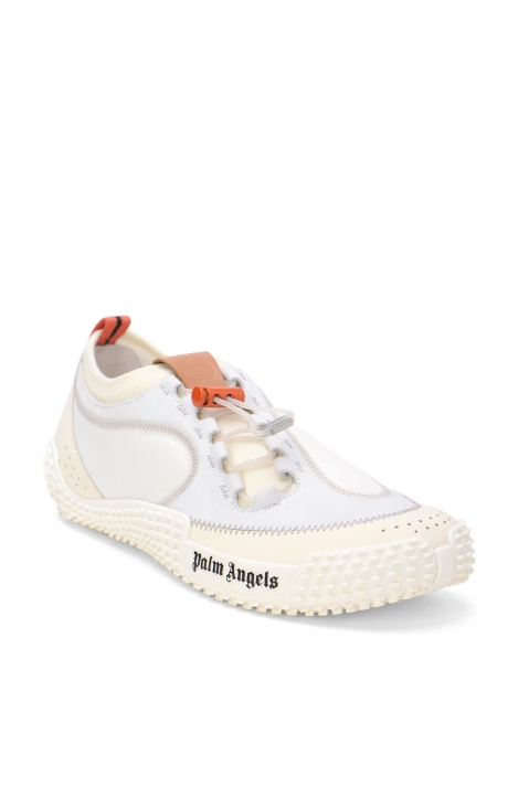PALM ANGELS Model 0 White Slip-On Sneakers 1
