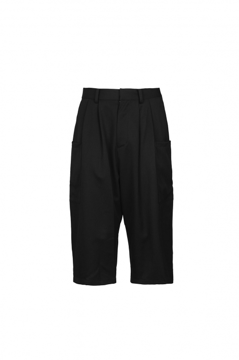 AMBUSH Black Wool Harem Pants 0
