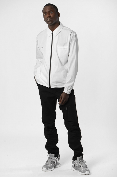 AMBUSH White Zipped Shirt Jacket 5