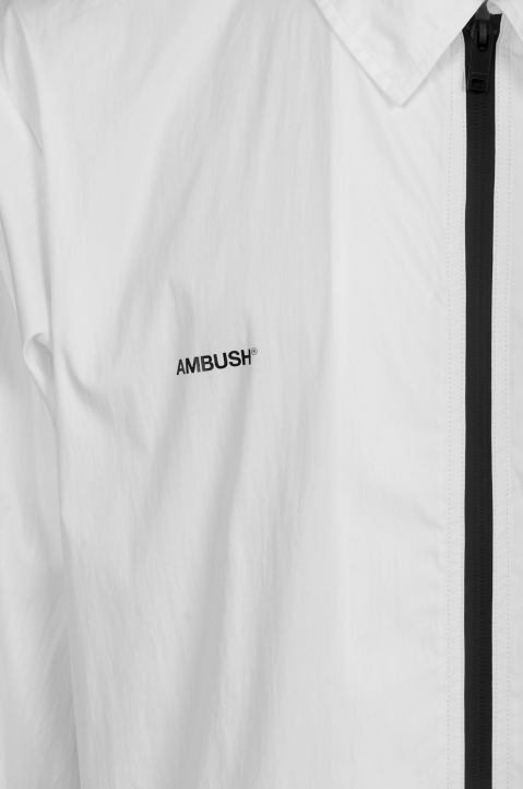 AMBUSH White Zipped Shirt Jacket 4