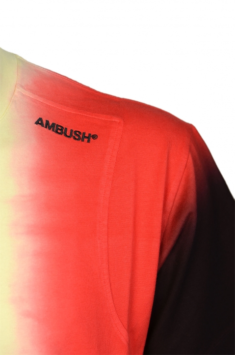AMBUSH Yellow Tie Dye Panel Tee 2