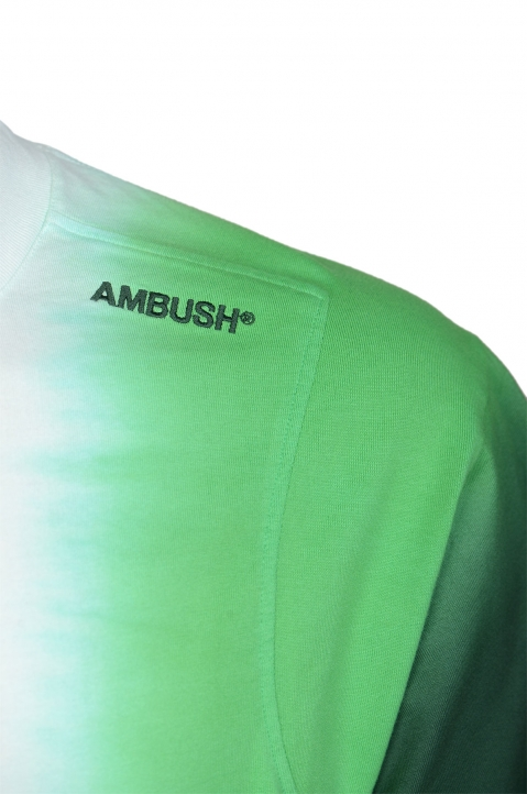AMBUSH Green Tie Dye Panel Tee  2