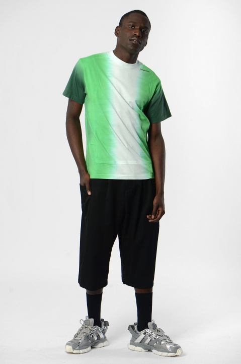 AMBUSH Green Tie Dye Panel Tee  3