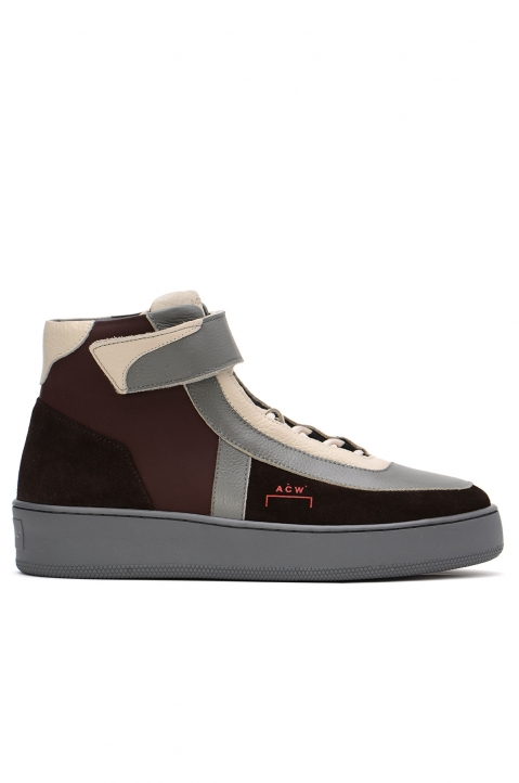 A-COLD-WALL* Hi-Top Brown Leather Sneakers 0
