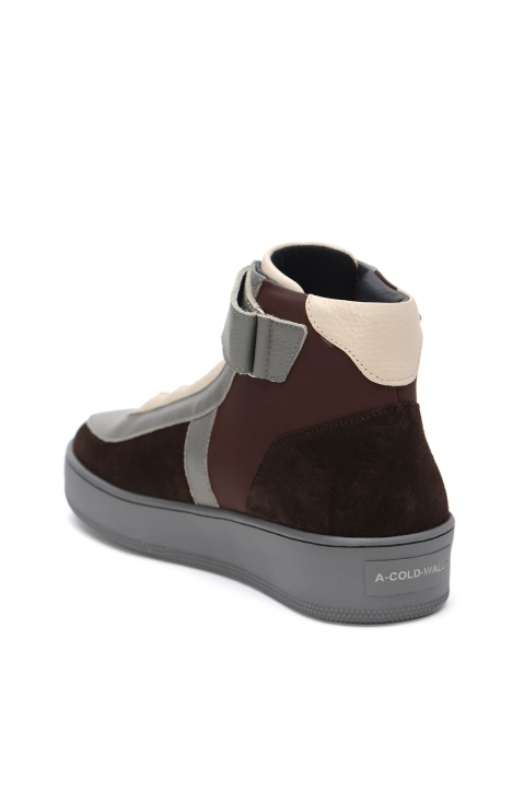 A-COLD-WALL* Hi-Top Brown Leather Sneakers 2