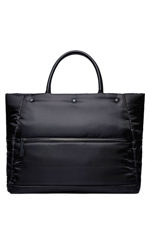 A-COLD-WALL* Black Padded Zip Tote Bag 1