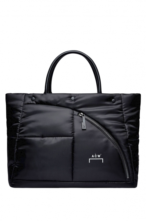A-COLD-WALL* Black Padded Zip Tote Bag 0